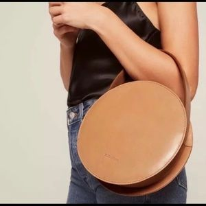 Flash sale new mint&rose leather circle bag